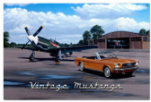 Nostalgic Vintage Mustangs Metal Sign