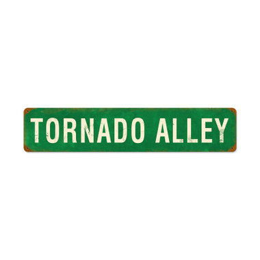 Retro Tornado Alley Tin Sign 28 x 6 Inches
