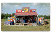 Vintage Gas Station Tin Sign 14 x 8 Inches