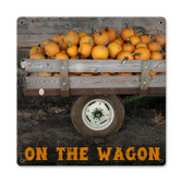 Vintage On The Wagon Tin Sign 12 x 12 Inches