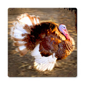 Vintage Running Turkey Tin Sign 12 x 12 Inches