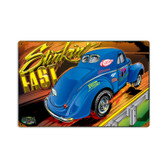 Vintage Stinkin Fast Tin Sign  18 x 12 Inches