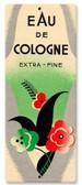 Vintage Eau De Cologne Tin Sign 5 x 12 Inches
