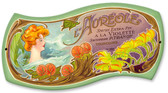 Vintage Aureole Perfume Tin Sign 12 x 7 Inches