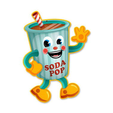 Vintage Soda Pop Tin Sign 10 x 14 Inches