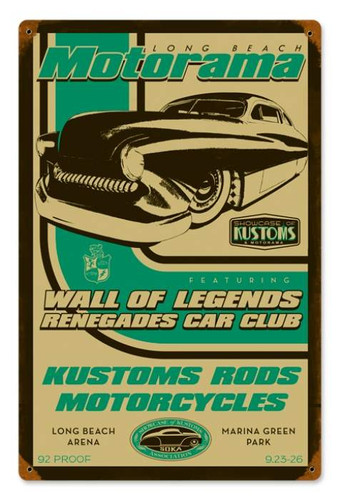 Vintage-Retro Wall of Legends Metal-Tin Sign