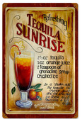 Vintage Tequila Sunrise Tin Sign 12 x 18 Inches