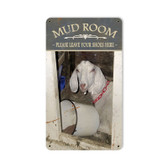 Retro Mud Room Metal Sign  8 x 14 Inches