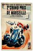 Retro Marseille Grand Prix Tin Sign 16 x 24 Inches