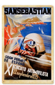 Retro Spanish Grand Prix Tin Sign 16 x 24 Inches