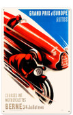 Retro Europe Grand Prix Tin Sign 16 x 24 Inches