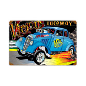 Retro Vicious Raceway Tin Sign 18 x 12 Inches