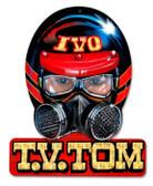 Vintage-Retro Tommy Ivo Helmet Metal-Tin Sign