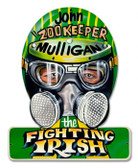 Vintage-Retro Fighting Irish Helmet Metal-Tin Sign