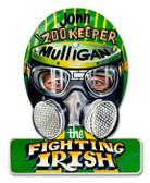 Vintage-Retro Fighting Irish Helmet Metal-Tin Sign