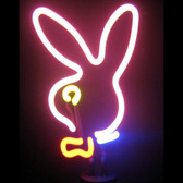 Retro BUNNY HEAD NEON SCULPTURE  8 W  x 10 H x 6 D