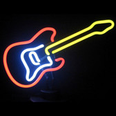 Retro ELECTRIC GUITAR NEON SCULPTURE  13 W  x 10 H x 6 D