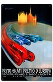 Retro Europe Grand Prix Metal Sign 12 x 18 Inches