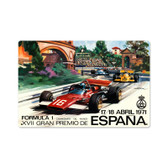 Retro Spanish Formula One Metal Sign 18 x 12 Inches