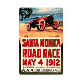 Retro Santa Monica Metal Sign 16 x 24 Inches
