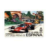 Retro Spanish Formula One Metal Sign 24 x 16 Inches