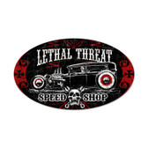 Retro Lethal Speedshop Metal Sign 24 x 14 Inches