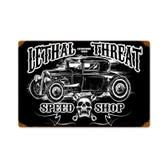Retro Hot Rod Speedshop Metal Sign 18 x 12 Inches