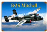 Retro B25 Mitchell Metal Sign 18 x 12 Inches