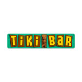 Retro Tikibar Metal Sign 28 x 6 Inches