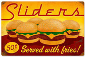 Retro Sliders Metal Sign 18 x 12 Inches