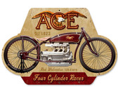 Retro Ace Metal Sign 17 x 12 Inches