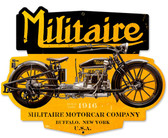 Retro Militare Motorcycle Metal Sign 17 x 14 Inches