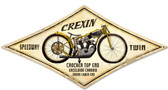 Retro Crexin Metal Sign 22 x 14 Inches
