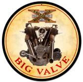 Retro Big Valve Engine Metal Sign 14 x 14 Inches