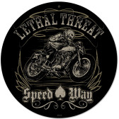 Retro Lethal Speedway Metal Sign 14 x 14 Inches