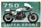 Retro Super Sport Metal Sign 18 x 12 Inches