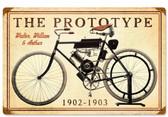 Retro The Prototype Metal Sign 18 x 12 Inches
