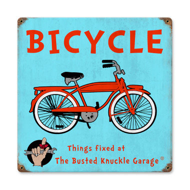 Retro Kids Bicycle Metal Sign 12 x 12 Inches
