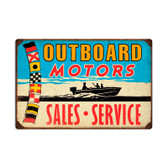 Retro Outboard Motors Metal Sign 24 x 16 Inches