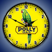 Retro Polly Gas 2 Lighted Wall Clock