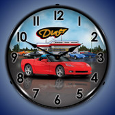Retro C6 Corvette Convertible Diner Lighted Wall Clock