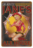 Vintage-Retro Calamity Jane Metal-Tin Sign