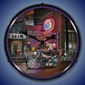 Retro Vics Hwy 40 Lighted Wall Clock