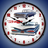 Retro 1959 Chevrolet  Lighted Wall Clock