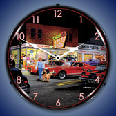 Retro Crazy Eds Lighted Wall Clock