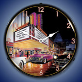 Retro Esquire Theatre Lighted Wall Clock
