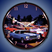 Retro Fast Freds Lighted Wall Clock