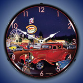 Retro Sammys Playland  Lighted Wall Clock
