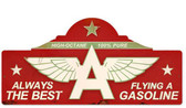 Retro Flying A Station Metal Sign  26 x 12 Inches
