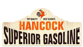 Retro Hancock Gas Station Metal Sign  26 x 12 Inches